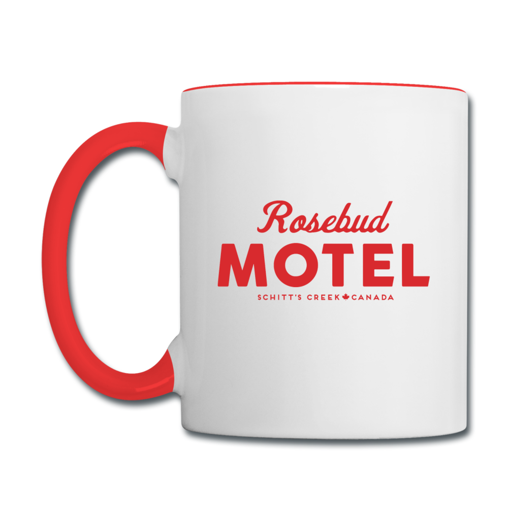 Rosebud Motel Schitts Creek Coffee Mug - white/red