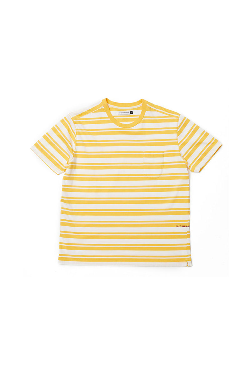 STRIPED POCKET T-SHIRTS【POP TRADING COMPANY】