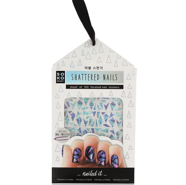 Soko Ready Autocollants Ongles Shattered Nails
