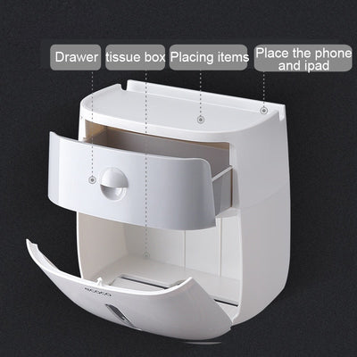 Waterproof Toilet Paper Storage Box Toilet Roll Holder