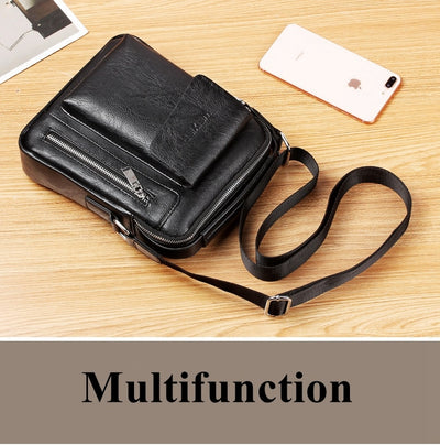 Casual Men Shoulder Bag Vintage Crossbody Bags Male Bag Leather Handbag Men Messenger Bags