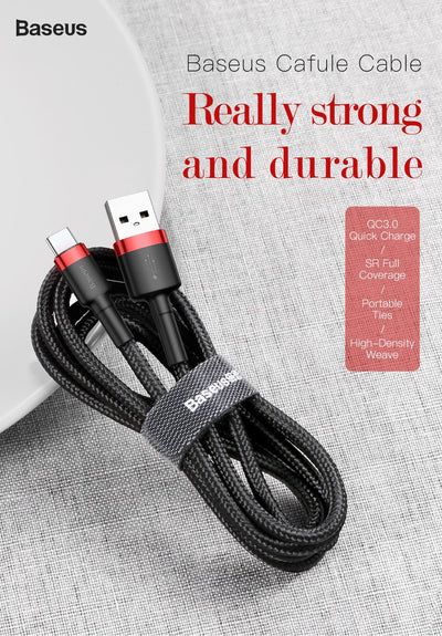 USB Type C Cable for Samsung S10 S9 Quick Charge 3.0