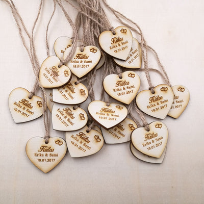 bridal shower heart  Wooden Tags