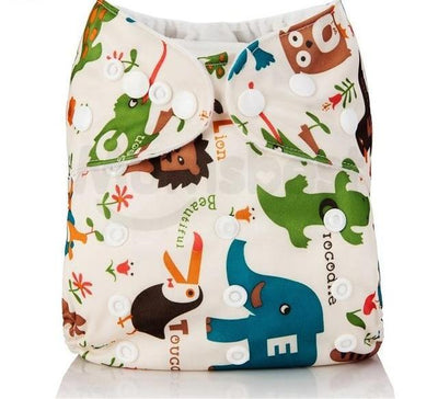 baby diapers Washable Baby Cloth Diaper pocket Waterproof Nappies Cartoon