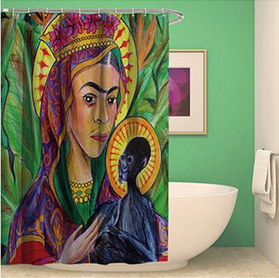 Ethnic style hand-painted Shower Curtains