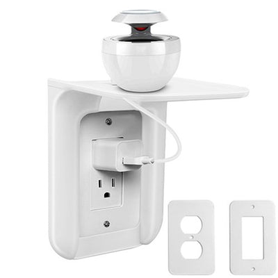 Wall Outlet Shelf Power Perch Charging Home Speaker Cell Phones Storage Rack New