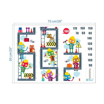 growth chart Robot  Children Room