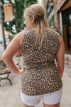 Leopard In Lipstick Sleeveless Top