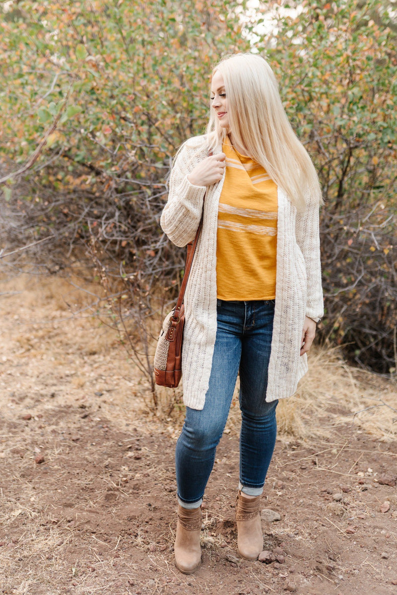 Ray Of Light Top In Mustard
