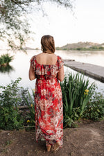 A Walk In The Sunset Maxi Dress