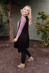 Life Of The Party Sleeveless Cardigan In Black