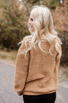 All Hail Sherpa Sweater In Camel