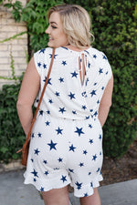 When The Stars Go Blue Romper