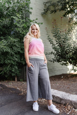 Heathered Gray Sparkler Gaucho Pants