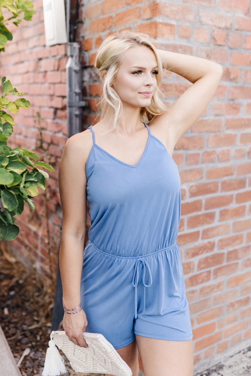 French-Blue Romper