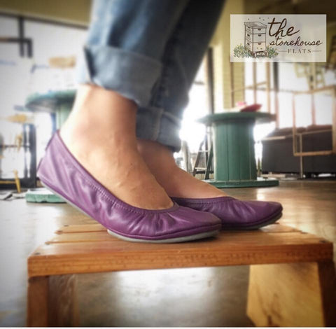 Perfectly Plum Storehouse Flats IN STOCK