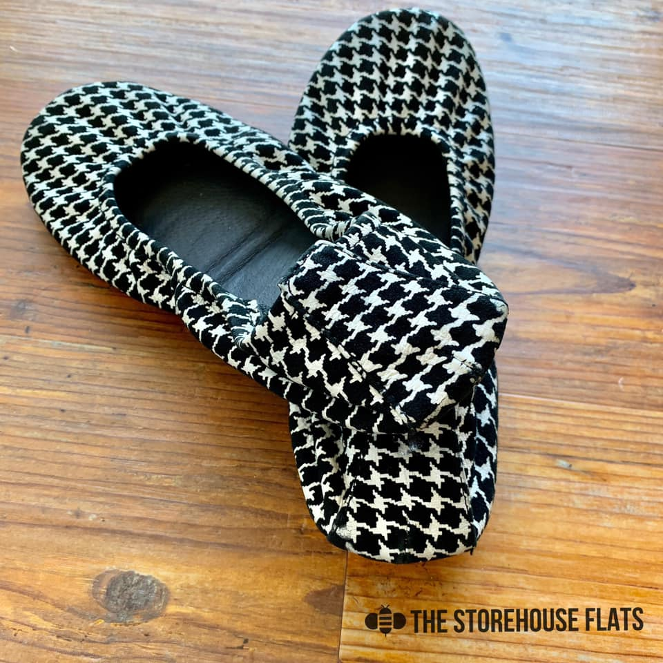 Houndstooth Storehouse Flats- IN STOCK