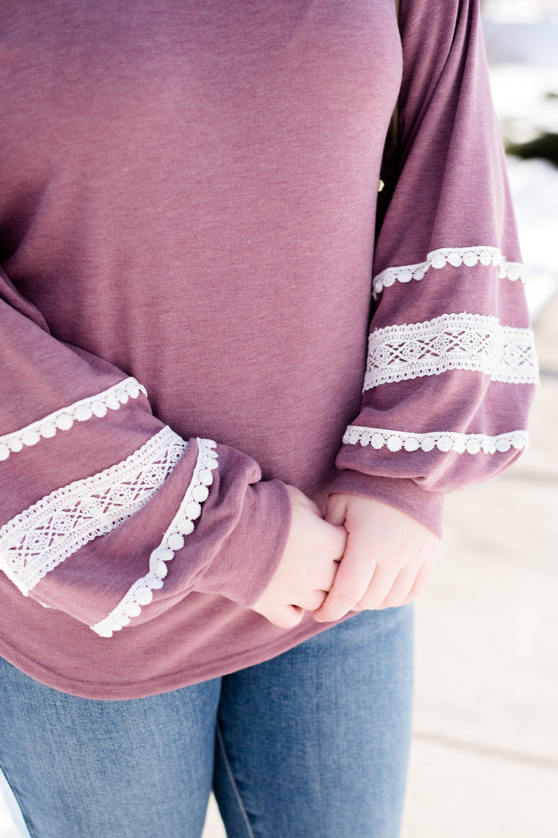 Lace Up Your Sleeve In Orchid Haze