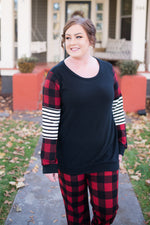 Buffalo Plaid To Be Here Top
