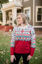 Decking The Halls Snowflake Sweater