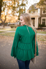 A Fine And Peasant Day Top In Hunter Green