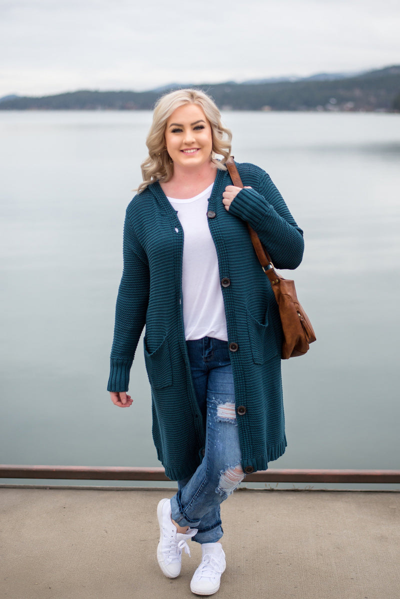 Teal The Deal Cardigan