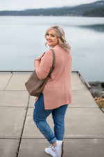 Find Your Groove Sweater In Mauve