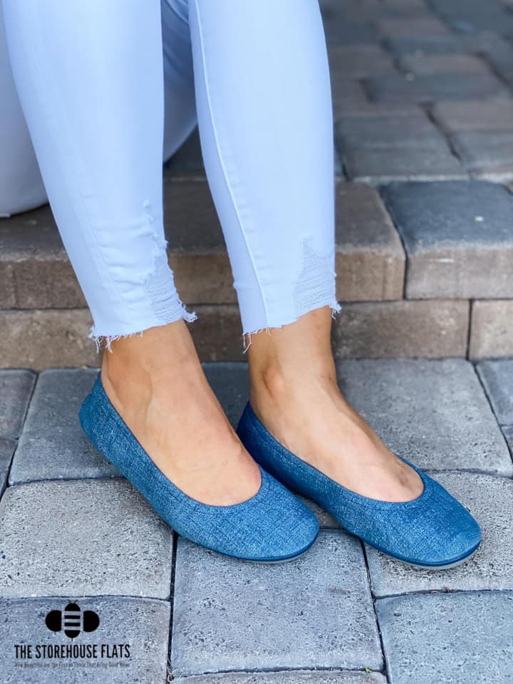 Blue Jean Storehouse Flats IN STOCK