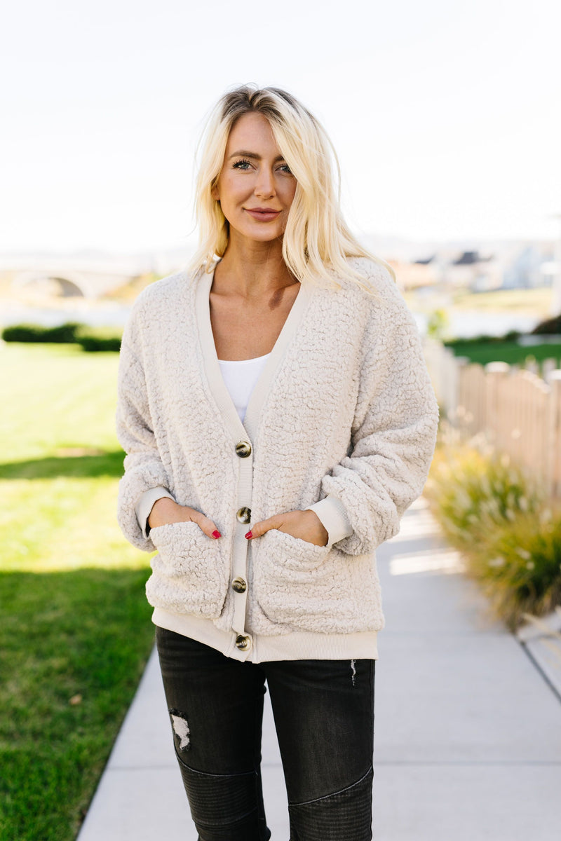 Sure Do Love Sherpa Cardigan