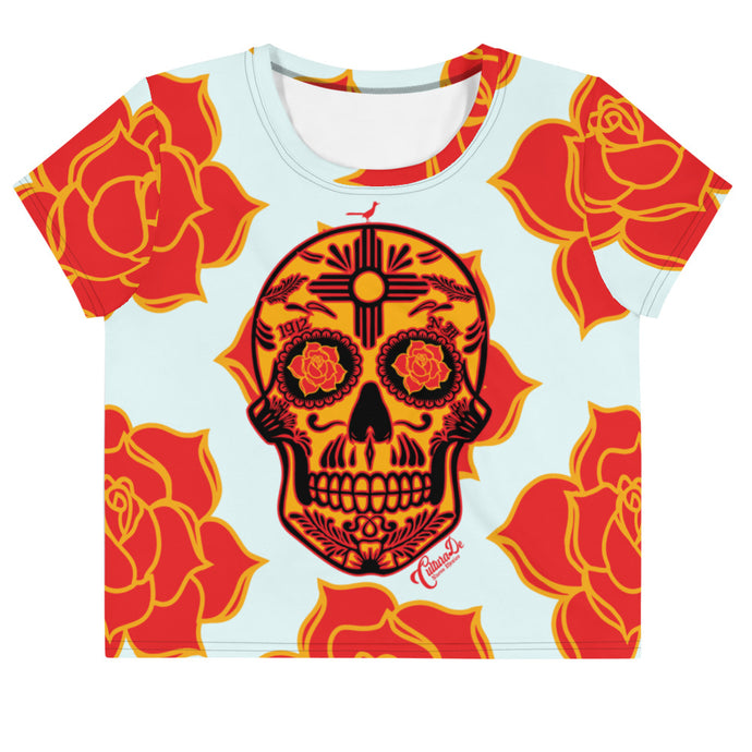 NM Sugar Skull Crop Tee