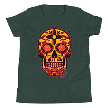 Load image into Gallery viewer, NM Sugar Skull Youth Short Sleeve T-Shirt