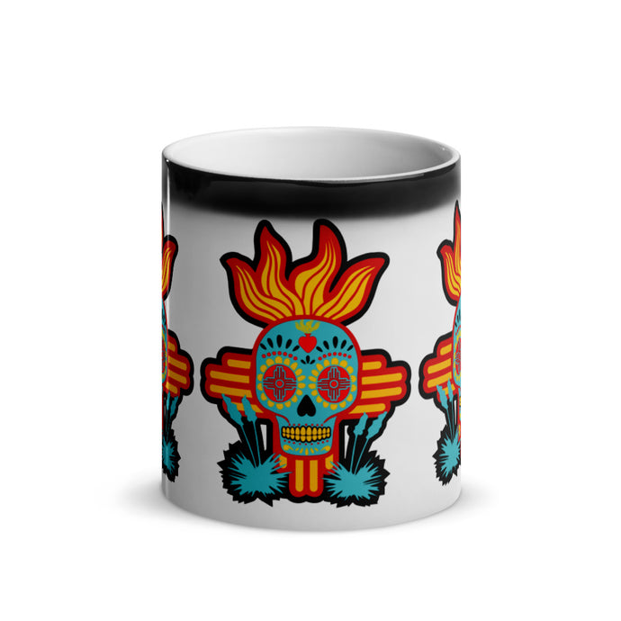 Flaming NM Sugar Skull