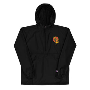 Pray For Us Embroidered Champion Packable Jacket