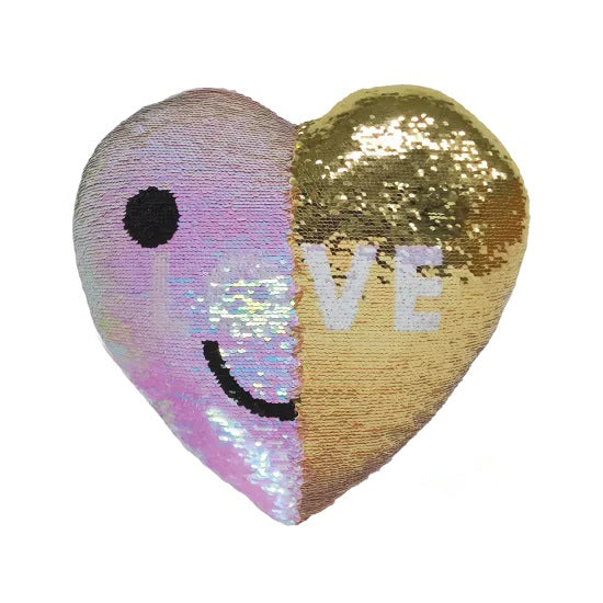 Mini Love Reversible Sequin Pillow