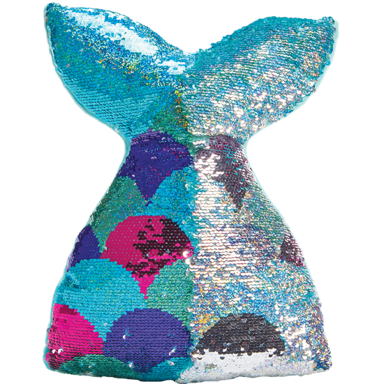 Mermaid Tail Reversible Sequin Pillow
