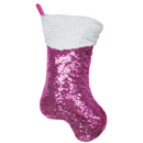 Pink Stocking Reversible Sequin Pillow