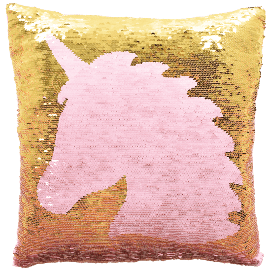Unicorn Silhouette Reversible Sequin Pillow