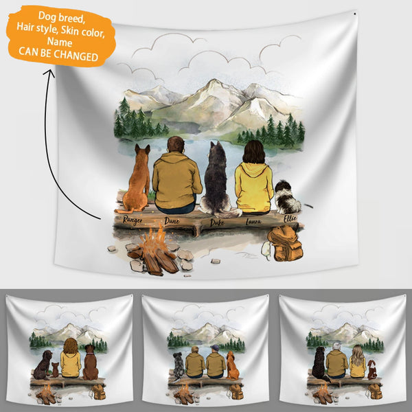 Personalized Custom Dog Mom Dad Wall Tapestry - During the Journey