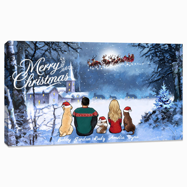 Personalized Custom Dog Mom Dad Home Decor Canvas Print - Christmas gifts