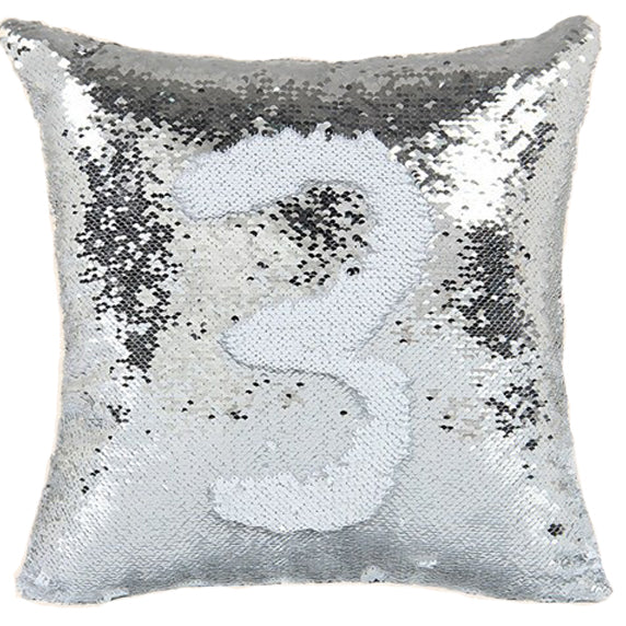 Sequin Shimmer Pillow Cover - Silver Shimmer Pillow