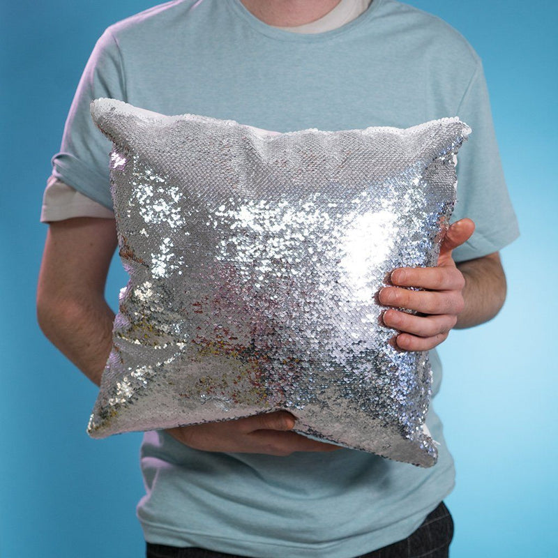 Personalized Photo Sequin Shimmer Pillow Cover - Design Your Pillow