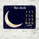 Personalized Baby Month Milestone Blanket -Luna Moon and Stars-Blanket-decor2house