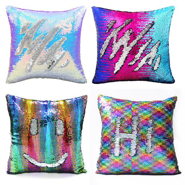 Sequin Shimmer Pillow Cover - Rainbow Shimmer Pillow