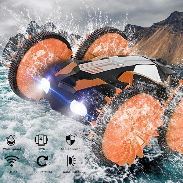 LH-C013 RC Crawler Car RC Boat Truck Land Water 2 in 1 RC Car