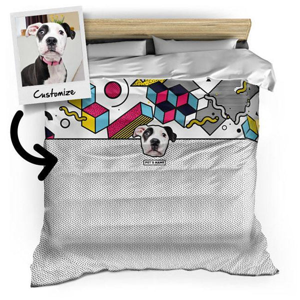 Personalized Custom Pet's Face - Duvet Cover