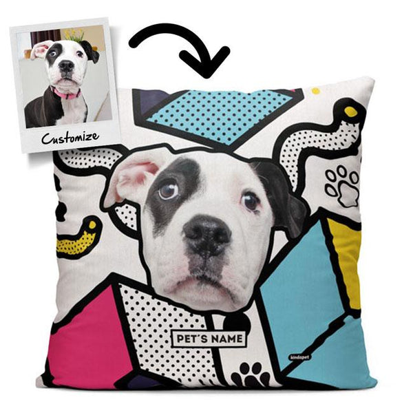 Personalized Custom Pet Face - Throw Pillow