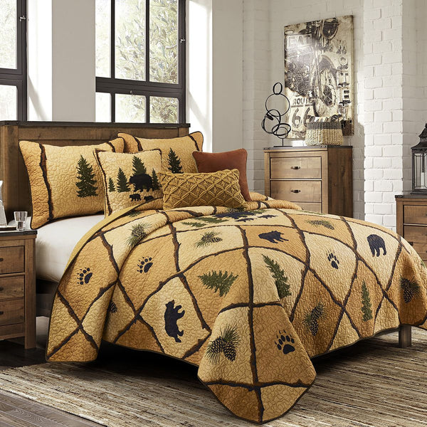 Pine Crossing Cotton Reversible Bedding Set - Pine-Bedding-decor2house