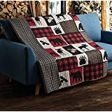 Flannel Throw Blanket with Sherpa Backing 50' X 60'-decor2house