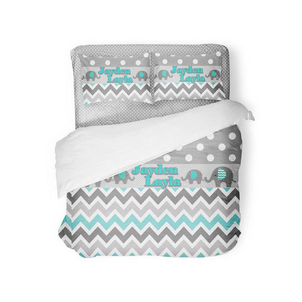 Monogram Personalized Custom Elephant Bedding Sets-Custom-decor2house