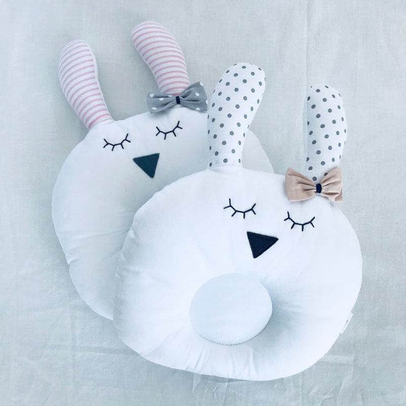 Baby Pillow Bunny Beige Bow